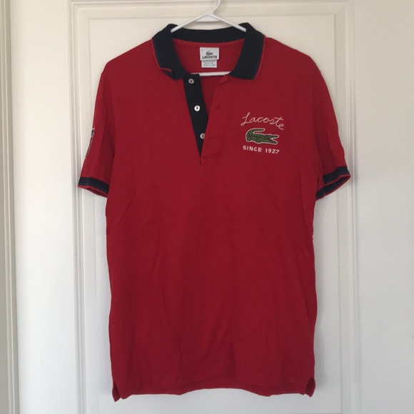 6a4ade7139cd7 Lacoste Other - Red Lacoste Logo polo